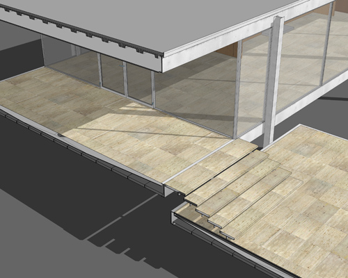 Farnsworth House Sketchup Model  PETER GUTHRIE