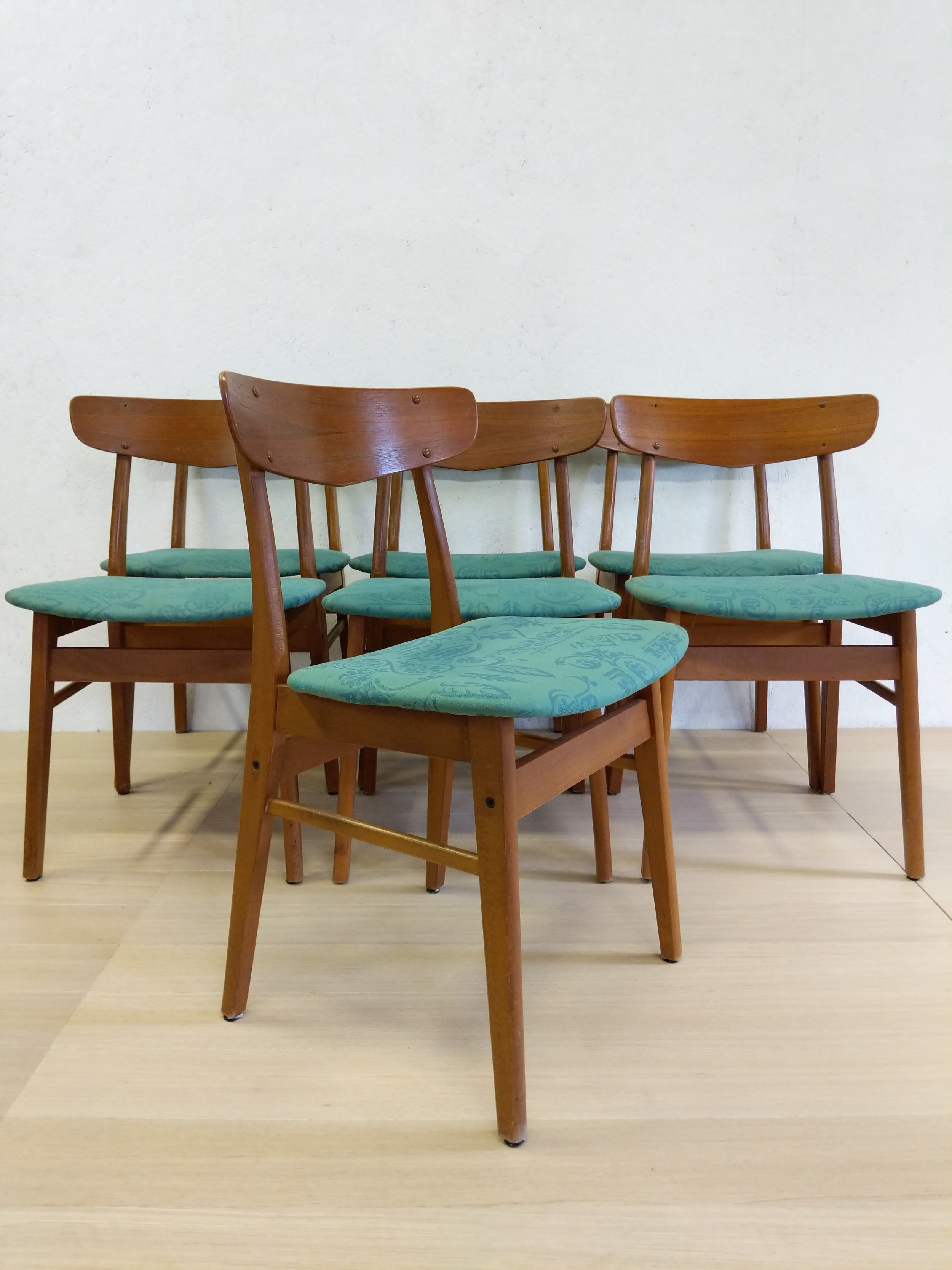 danish modern dining chairs bedroom chair walmart set of 7 vintage far out finds