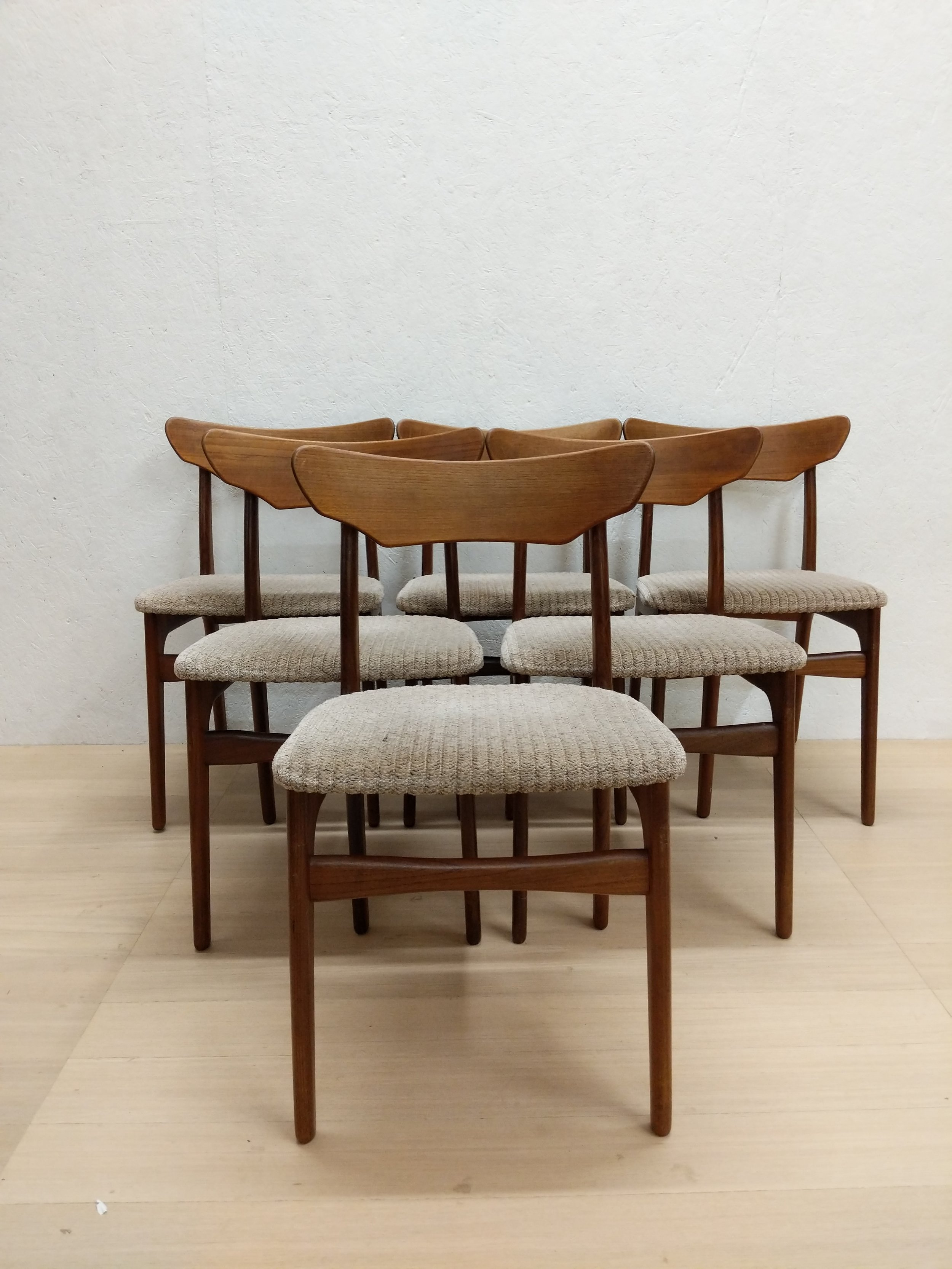 danish modern dining chairs new revolving chair set of 6 vintage by schionning elgaard