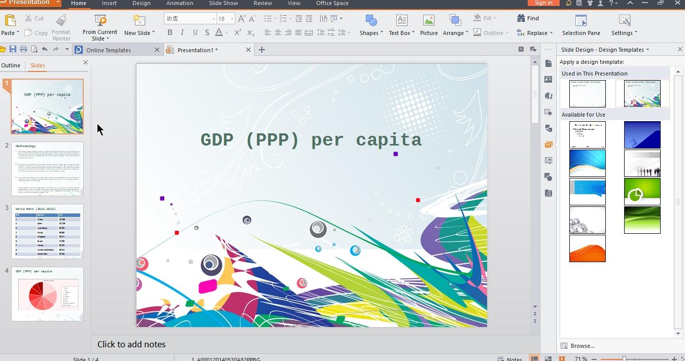wps presentation templates