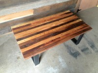 Reclaimed Wood Butcher Block Coffee Table - WHAT WE MAKE