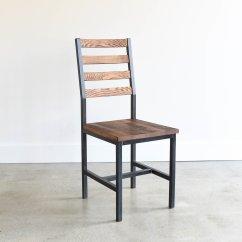 Industrial Dining Chair Swinging Baby Reclaimed Wood Oak Walnut What We Make Indstrl 2 Jpg