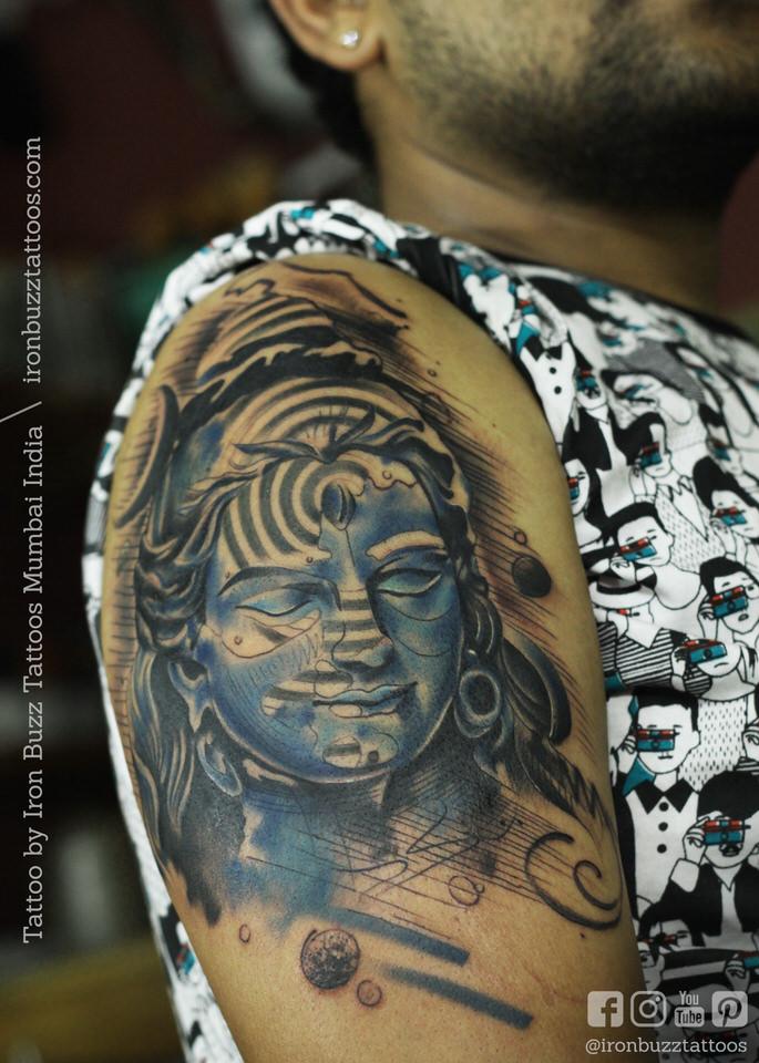 Shiva Tattoo On Hand Simple