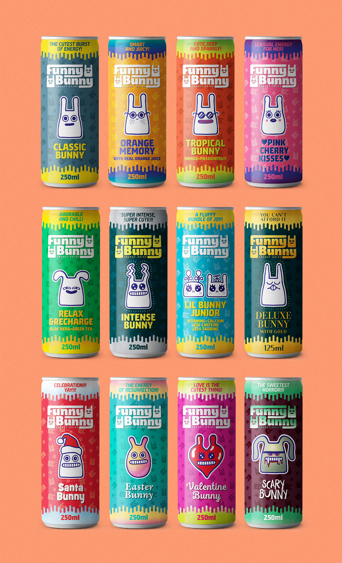 This Concept Is A Bright And Cute Take On Energy Drinks