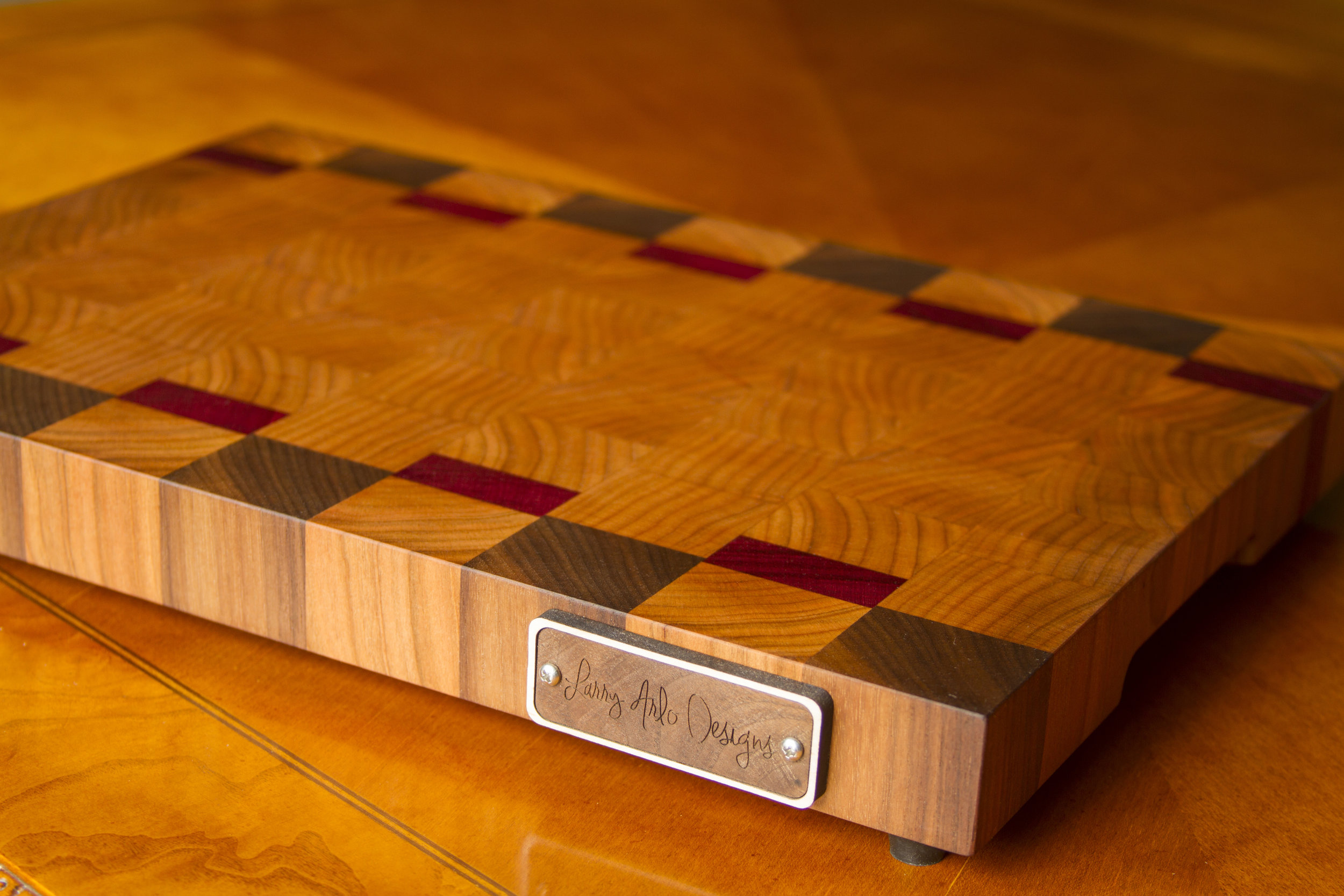 Purple Heart End Grain Cutting Board