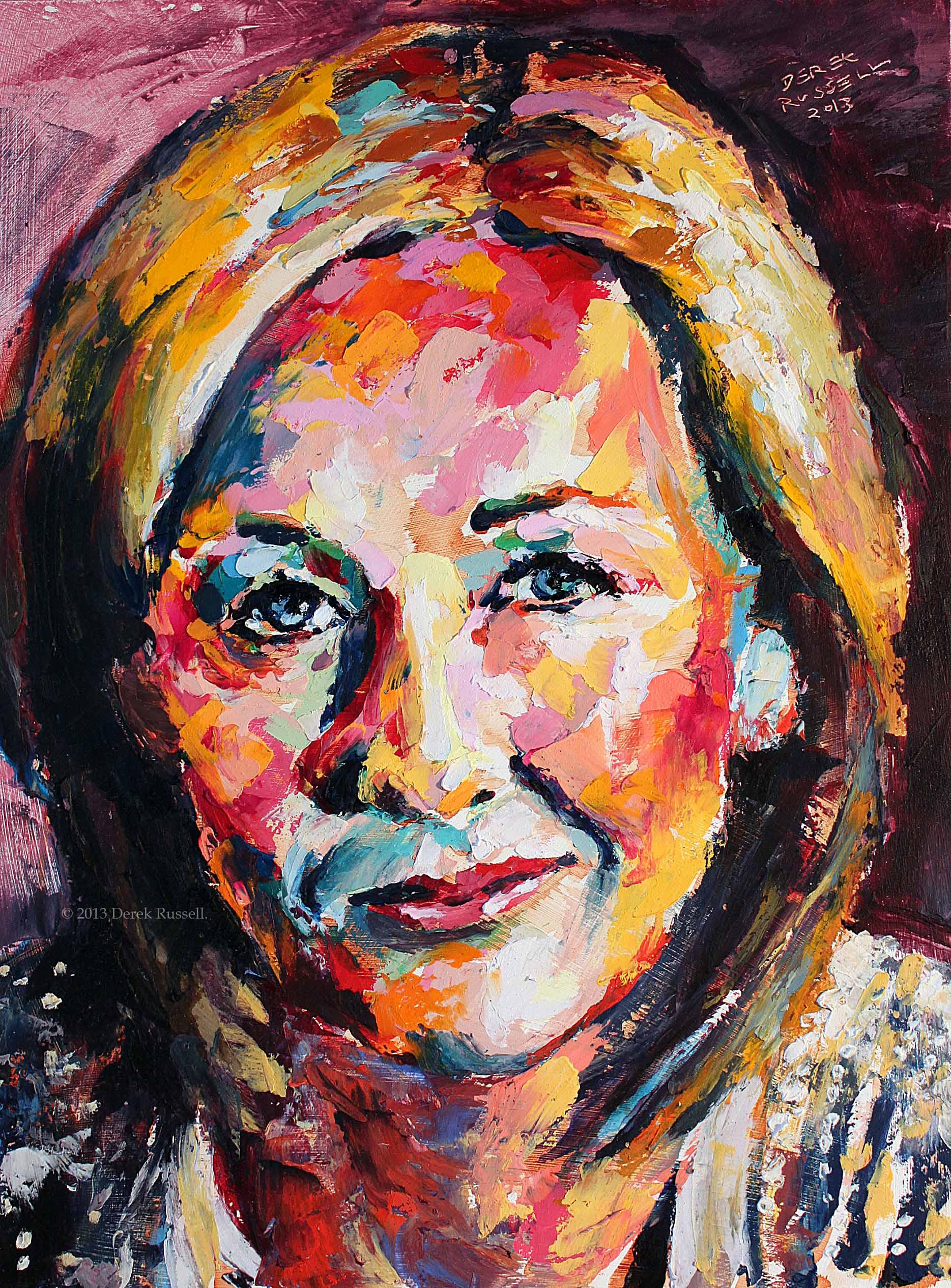Rowling - Original Oil Painting Derek Russell