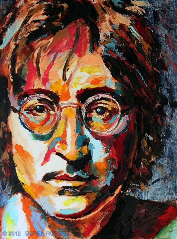 John Lennon - Original Oil Painting Derek Russell