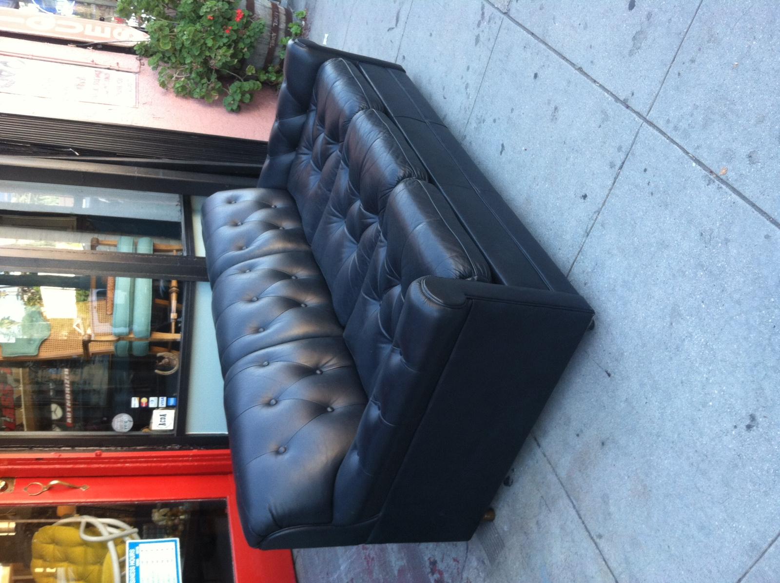 Vintage Leather Sofa Sleeper