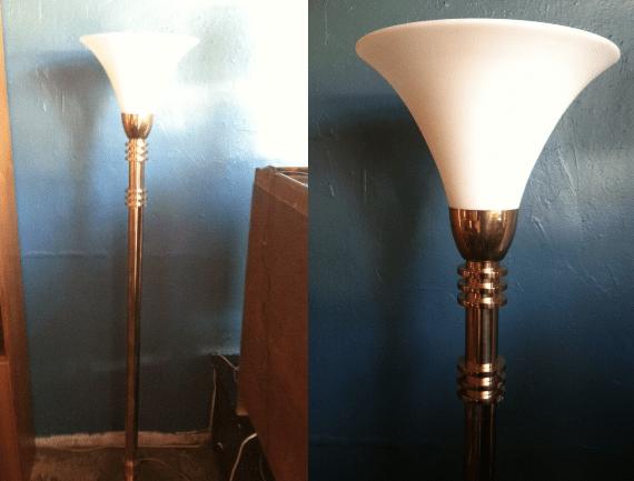 The Clapper  1980s Brass Torchiere Floor Lamp  Casa