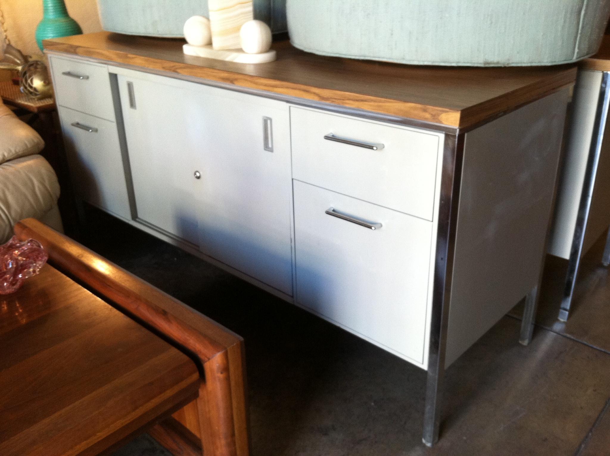 Built Tough  MidCentury Metal Office Credenza  Casa