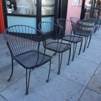 Nothing Compares | Set of Four Mid-Century Iron Patio ...