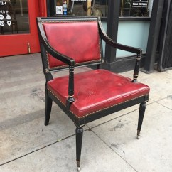 Hickory Chair Co Customized Director Breaking Hearts Red Leather Arm By Casa Victoria Vintage Furniture Los Angeles