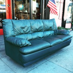 Dark Green Leather Sofa Smart Uk Comfort In Mind 1980s Casa Victoria Vintage Furniture Los Angeles