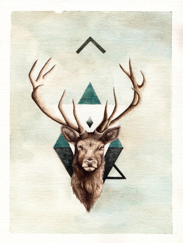 тату олень с рогами значение олень лось тату значение татуировок