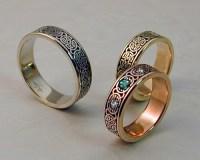 Celtic Wedding Band Set  Metamorphosis Jewelry