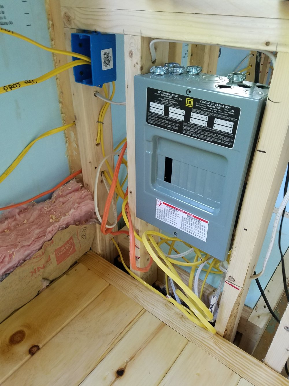 medium resolution of electricity panel to everything in the house will sit by the kitchen cabinets