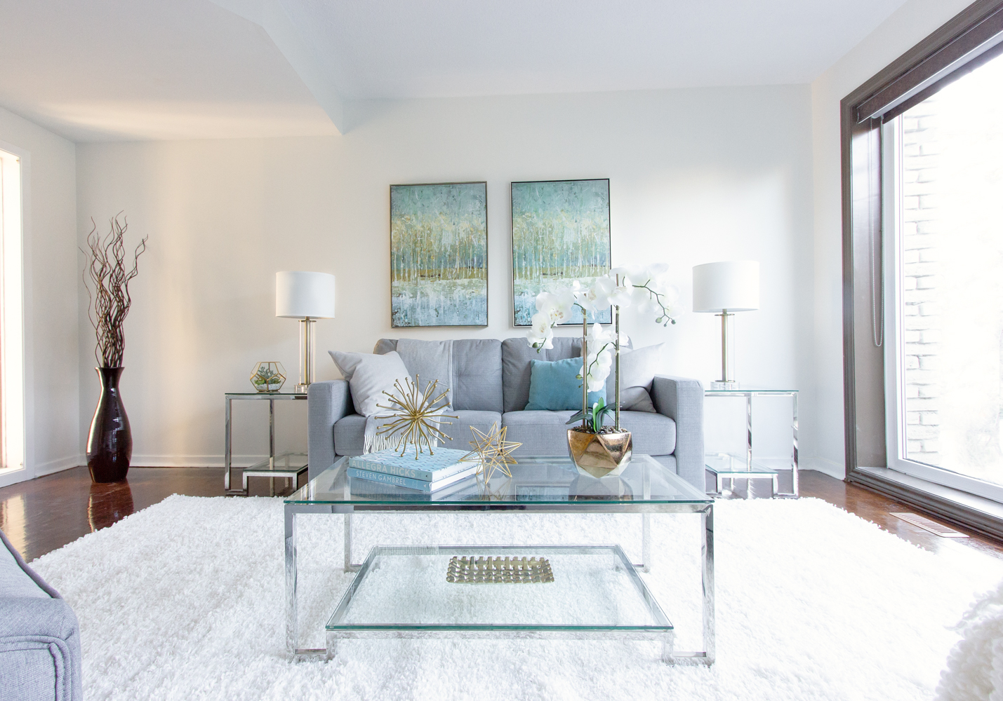 staging a living room benches in home barrie new leaf decor