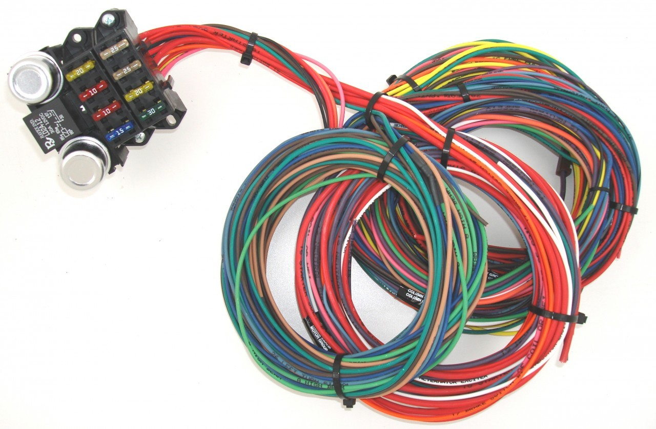 hight resolution of 8 circuit budget wire harness tbc race cars