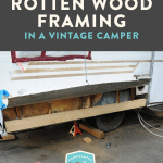 Before After Replacing Rotten Framing In A Vintage Camper