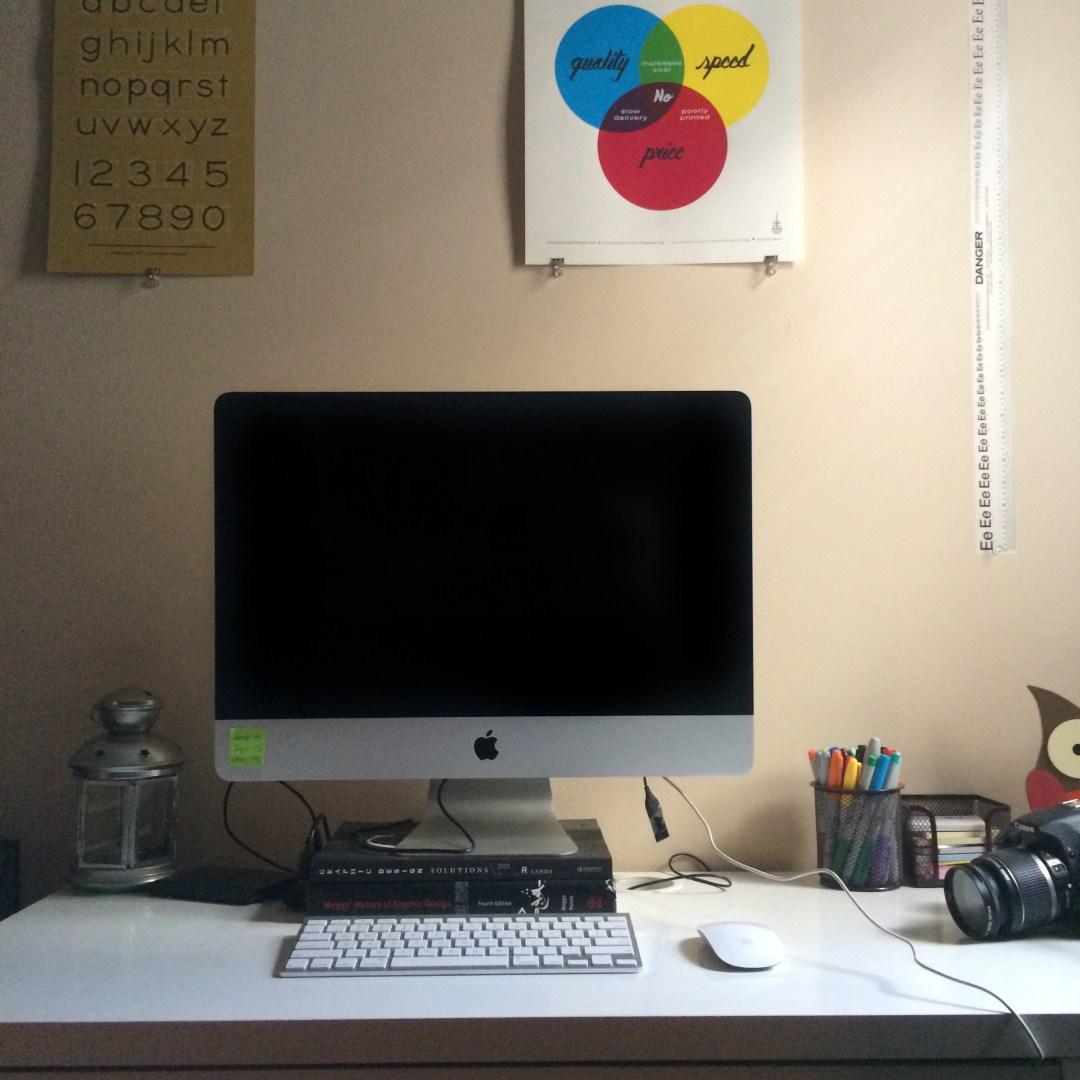 Okay... so maybe my desk isn't always THAT clean.