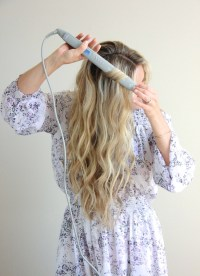 Cara Jourdan | Wavy Hair Tutorial with Flat Iron