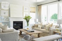 mixing white and beige...  The Decorista