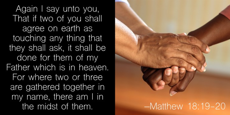 Image result for matthew 18:19-20