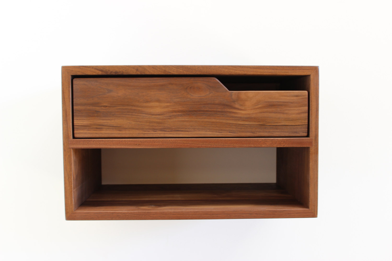 Double Modern Floating Nightstand Imago Furniture