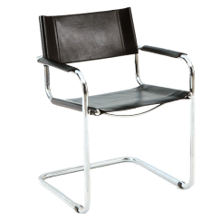 Leather Chrome Chair Folding Chairs For Sale In Bulk Italian Loenstein Oggo Arm O N Y X