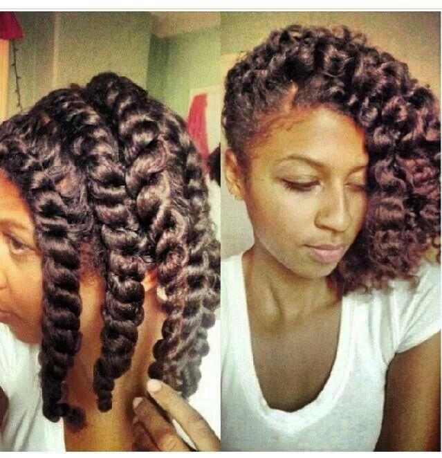 flat twist natural hair