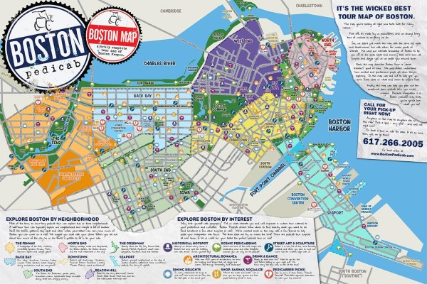 The Absolute BEST Tour Map of Boston Period Boston