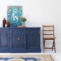 Kitchen Loans Navy Blue Rugs Regal In Blue: Pairing Annie Sloan's Black Wax With ...