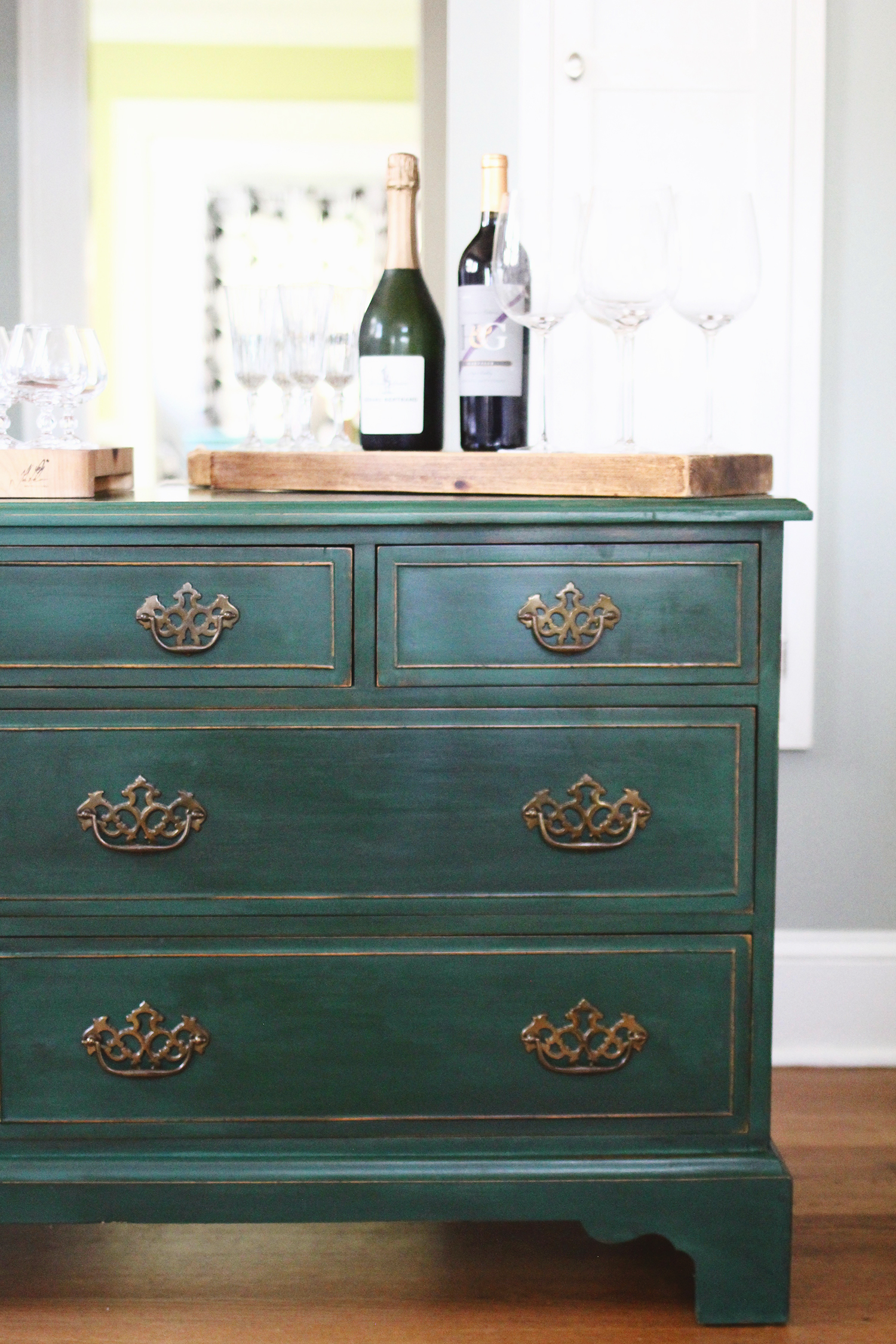 Testing New Colors Annie Sloan Amsterdam Green Dresser  A Simpler Design a hub for all things