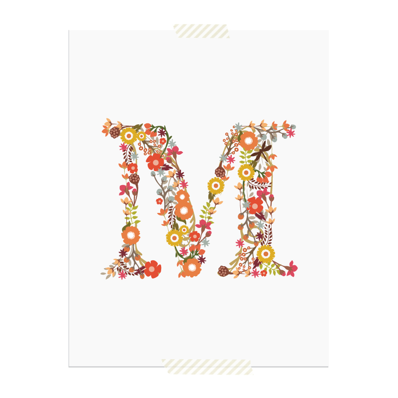 new to the library monogram art prints