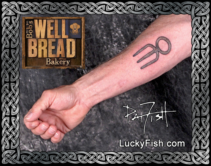Forchetta Bread Bread Fork Tattoo — Luckyfish, Inc. And Tattoo Santa Barbara