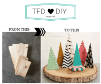 DIY Wooden Christmas Trees Decor/Gifts  TFD Style
