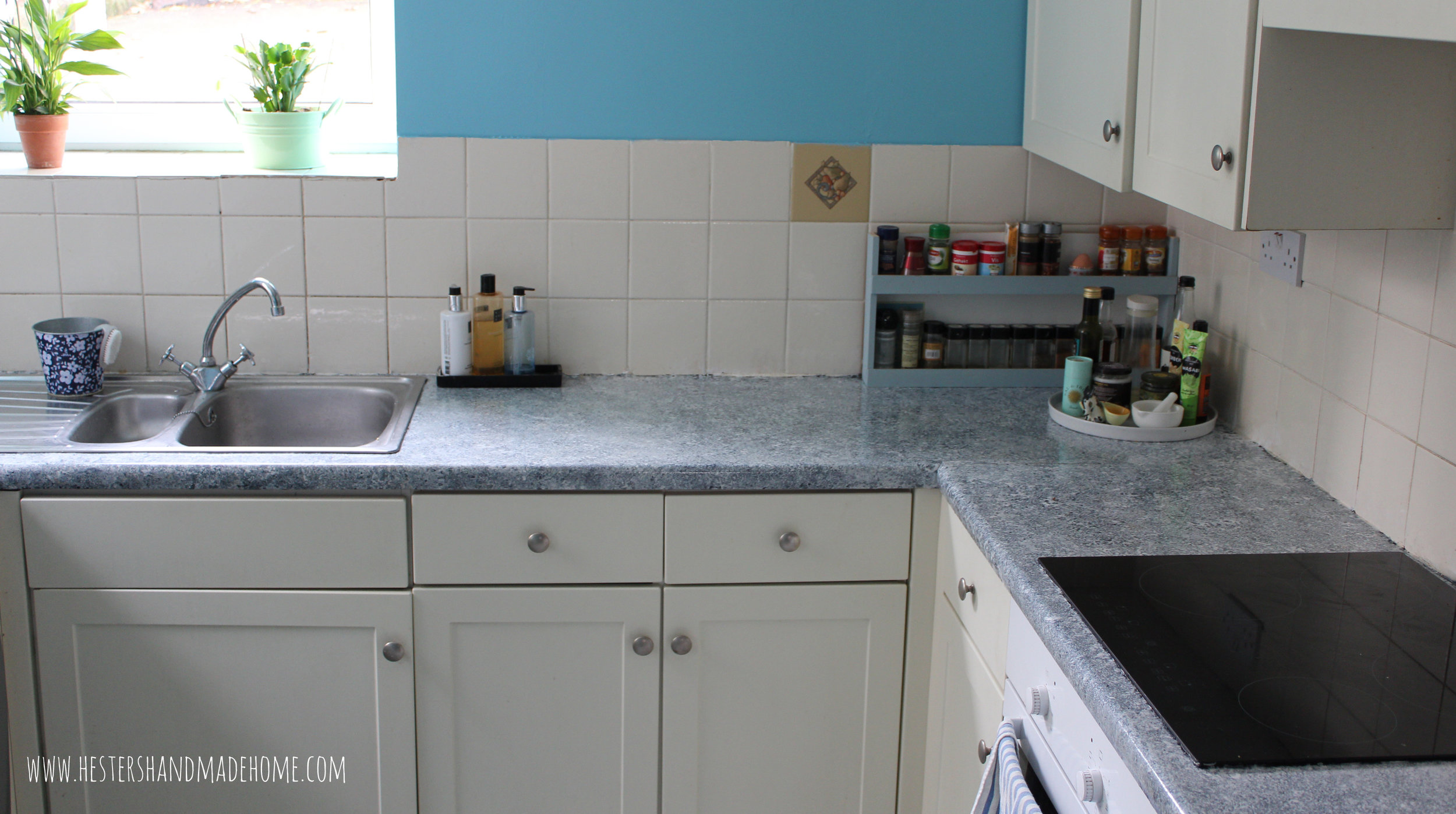Painted Kitchen Counters With Giani Granite — Hester's Handmade Home