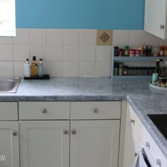 Kitchen Counters Movable Cabinets Painted With Giani Granite Hester S Handmade Home