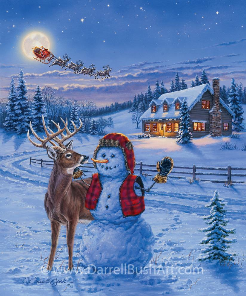 Christmas Eve Darrell Bush Art