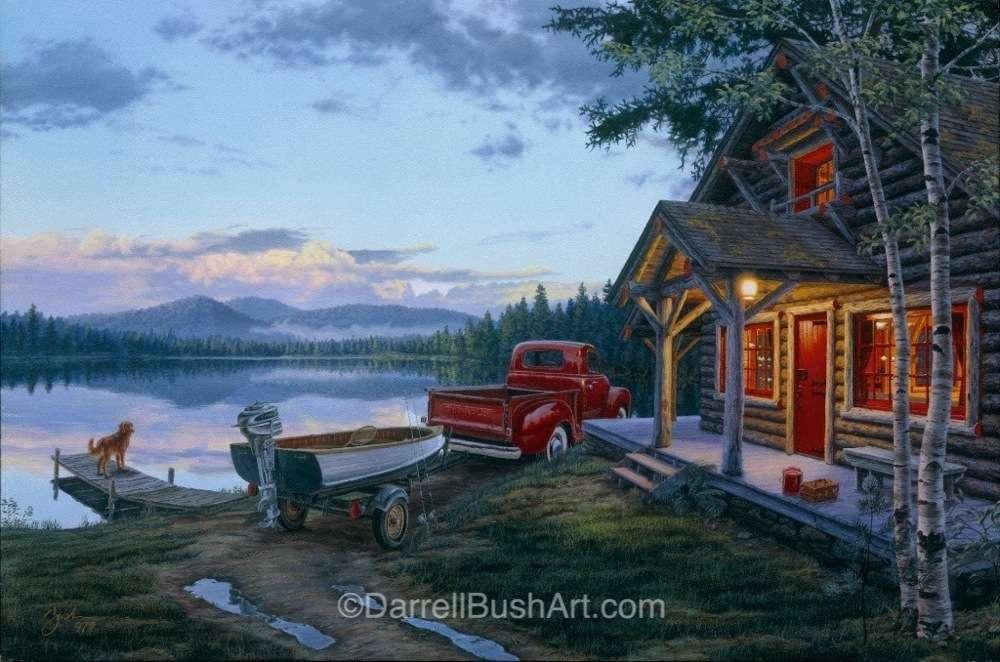 Cabin Fever Darrell Bush Art