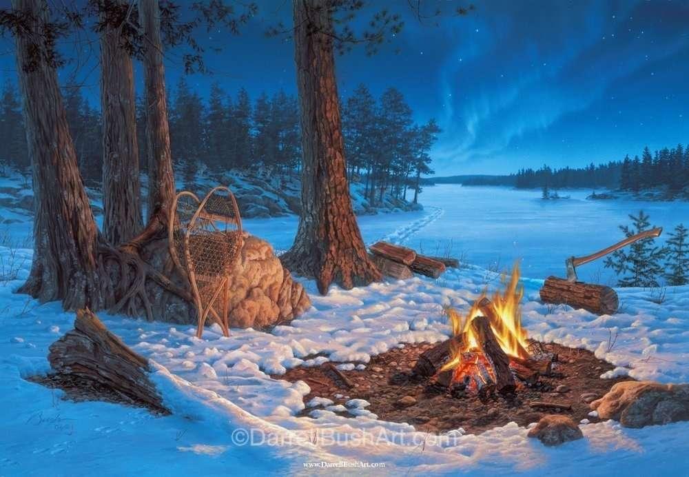 Winter Tracks Darrell Bush Art