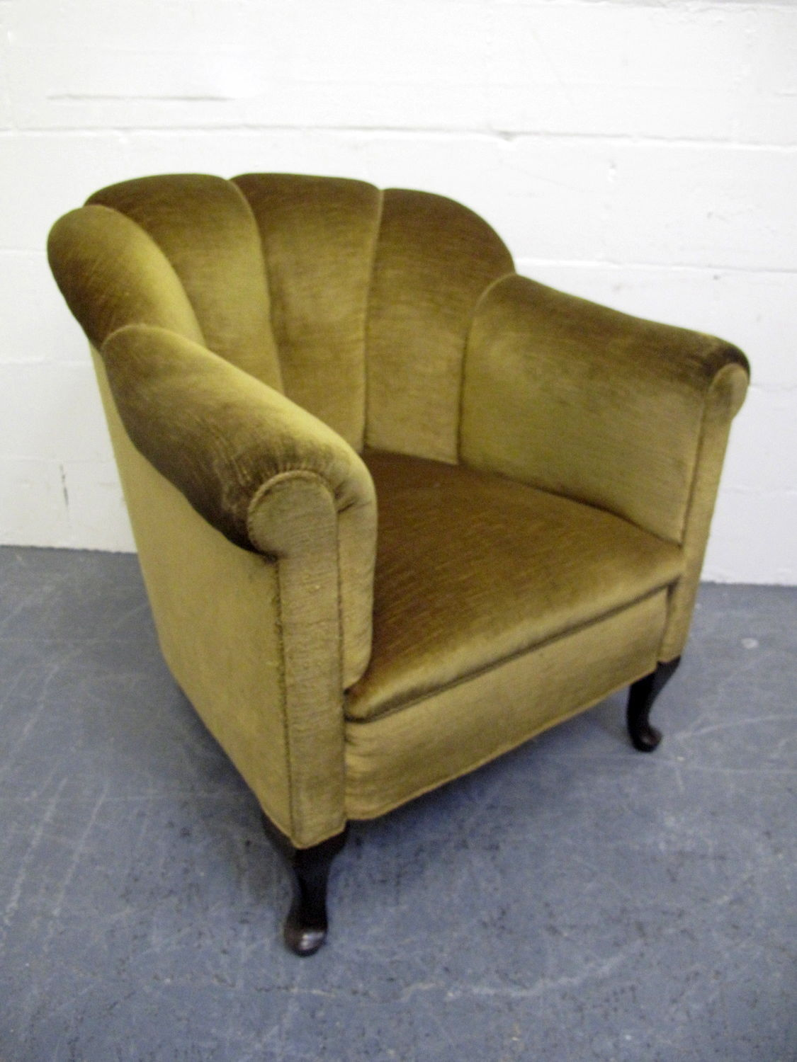 vintage arm chair rolling chairs for office the hunt perfect armchair sarah akwisombe art deco shell green velvet