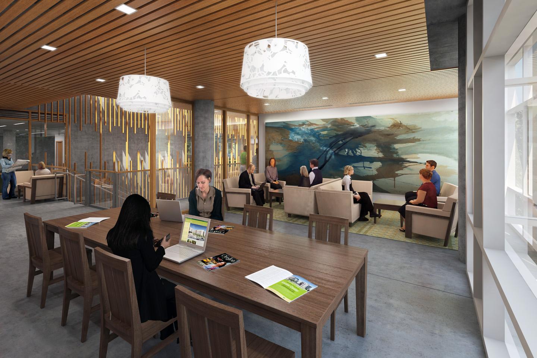 U Of O Ford Alumni Center Library — Atomic Sky