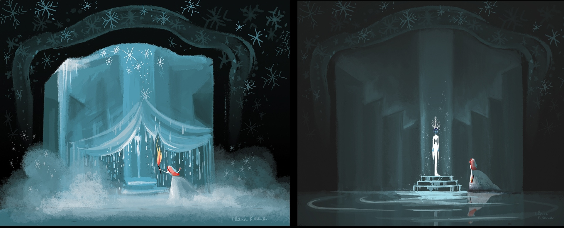 ANNA THAWING THE SNOW QUEEN //VISUAL DEVELOPMENT FOR FROZEN