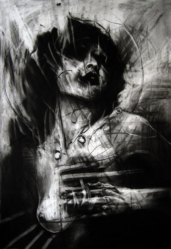 Dark Charcoal Art Drawing