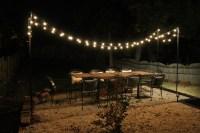 DIY String Light Patio   Brooklyn House  Elizabeth ...