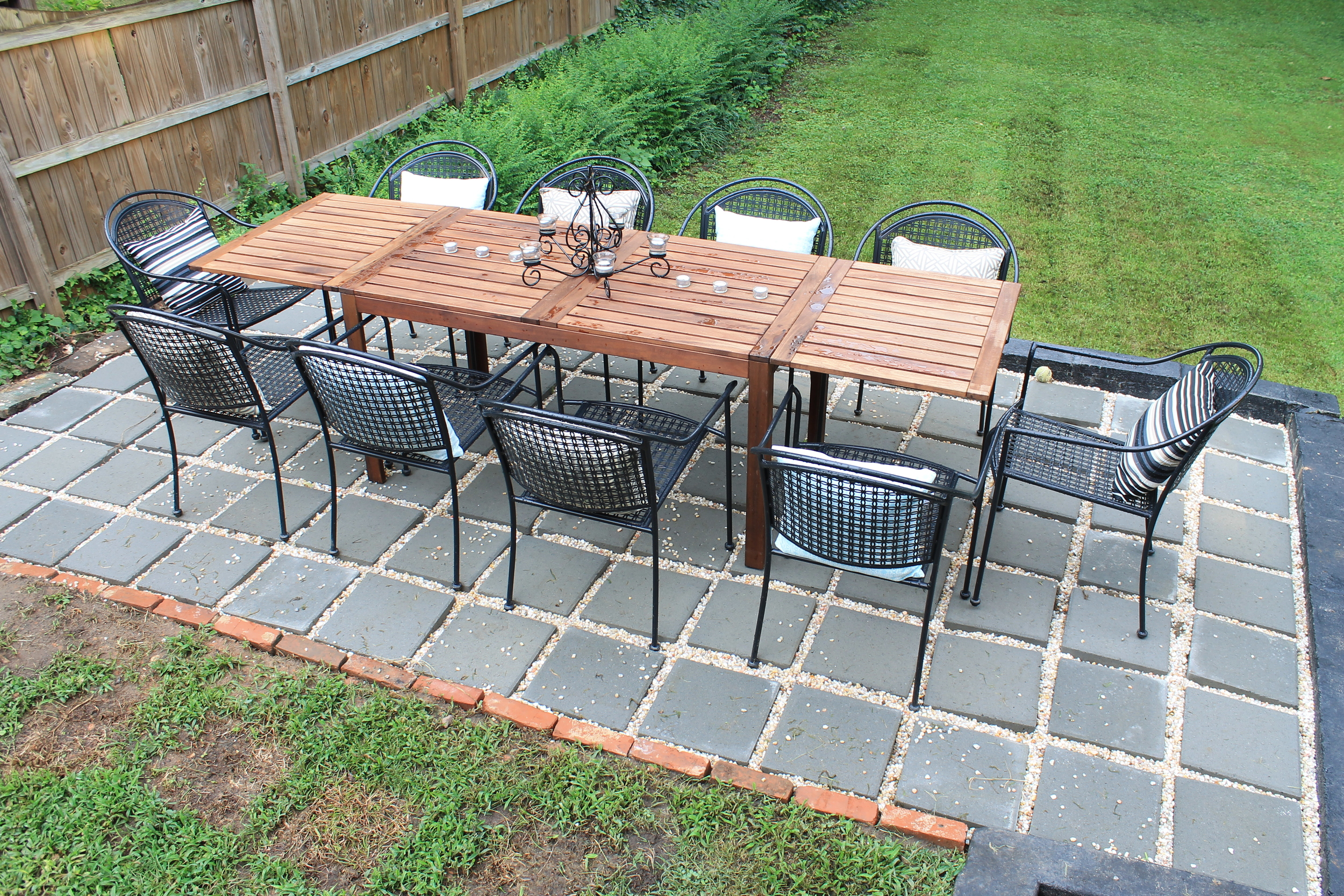DIY Backyard Patio  Brooklyn House  Elizabeth Burns Design Raleigh NC Interior Designer