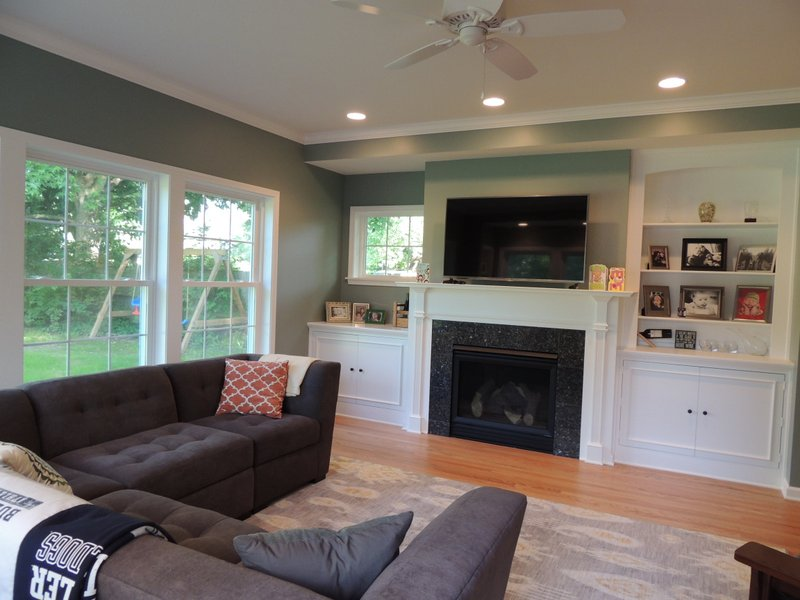 Indianapolis Springmill Family Room  Indianapolis Remodeling Contractor  Kitchen Remodeling
