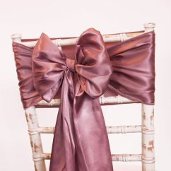 Rose Gold Satin Chair Sashes Table And Rental Columbus Ohio Sash Hire Range Pretty White Taffeta In A Choice Of Over 50 Colours