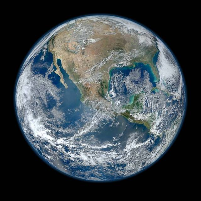 A 'Blue Marble' image of the Earth taken from the VIIRS instrument aboard NASA's most recently launched Earth-observing satellite - Suomi NPP. This composite image uses a number of swaths of the Earth's surface taken on January 4, 2012. The NPP satellite was renamed 'Suomi NPP' on January 24, 2012 to honor the late Verner E. Suomi of the University of Wisconsin. Suomi NPP is NASA's next Earth-observing research satellite. It is the first of a new generation of satellites that will observe many facets of our changing Earth. Suomi NPP is carrying five instruments on board. The biggest and most important instrument is The Visible/Infrared Imager Radiometer Suite or VIIRS. Image Credit: NASA/NOAA/GSFC/Suomi NPP/VIIRS/Norman Kuring Last Updated: Aug. 4, 2017 Editor: NASA Content Administrator